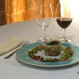 Dish of the Hotel Castellarnau restaurant